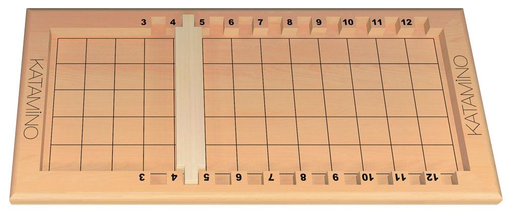 Plateau avec la réglette placer entre le 4 et le 5.